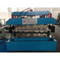 Buy cheap 7.5KW Corrugated Sheet Making Machine , Metal Roll Forming Machines With Guide Pillar product