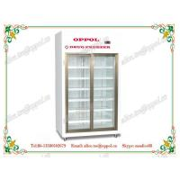 Quality OP-914 Glass Double Doors Upright Display Refrigerator for Pharmacy Storage wholesale