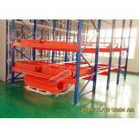 Buy cheap High Density Push Back Rack System Customized Height S235JR Material from wholesalers