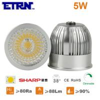 Quality ETRN Brand Sharp COB LED 5W MR16 Dimmable LED Spotlight Bulbs LED Lights LED Spot lamps wholesale
