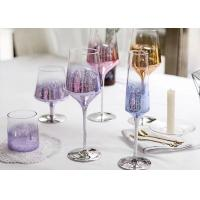 China Colored Goblet Whiskey Glass Cups , Transparent Wine Glass For Party on sale