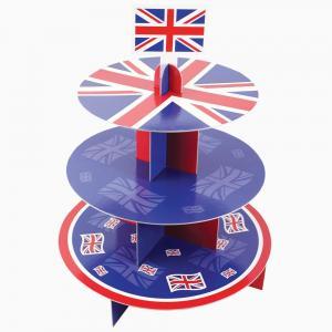 Quality Eye Catching Cardboard Cake Stand Customized Logo Matt Lamination Surface wholesale