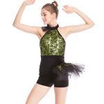 Quality Biketard Jazz Costume Dance Wear Sequins Gymnastics Performance Dance Competition Clothes wholesale
