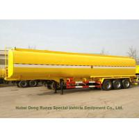 Cheap Carbon Steel 3 Axles Tank Semi Trailer For Diesel , Oil , Gasoline , Kerosene Transport for sale