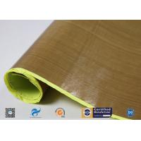 China Heat Resistant PTFE Coated Fiberglass Fabric With Silicone Adhesiive on sale