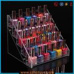Quality Clear Acrylic Nail Polish Display Stand, 5 tier nail polish display rack wholesale