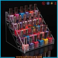 Quality Clear Acrylic Nail Polish Display Stand, 5 tier nail polish display rack wholesale