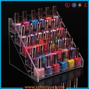 Cheap Clear Acrylic Nail Polish Display Stand, 5 tier nail polish display rack for sale