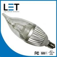 China led candle lamp with UL 2w led candelabra bulb e27 dimmable led candle bulb light on sale