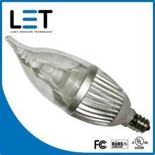 Quality led candle lamp with UL 2w led candelabra bulb e27 dimmable led candle bulb light wholesale