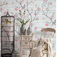 Buy cheap Flowers And Birds Soil Case Classic Style Embossed Vinyl Wallpaper from wholesalers