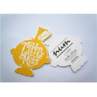 Quality Yellow Clothing Label Tags Recycled Paper Hang Tag For Necklaces wholesale