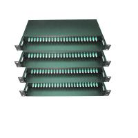 Quality 48 / 96 Fiber MPO/MTP Fiber Optic Patch Panel Termination Box 19 Inch SPECC Material wholesale