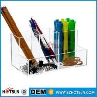 Quality Hot Selling 2016 clear acrylic Desk Organizer Stationary Products wholesale