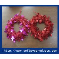 Quality Customized Tinsel Mask Plastic Christmas Magnets for Christmas Tree Decoration wholesale