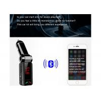 Cheap Dual USB Port Bluetooth Car Charger Digital Display For All Types Vehicles for sale