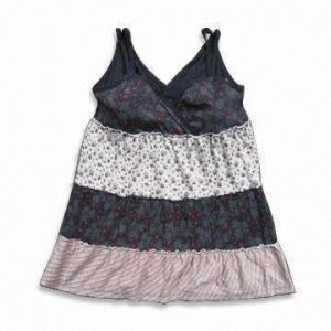 China Ladies' High Fashion Sundress, 100% Super Fine Cotton on sale