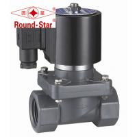 Quality Black 1/2 Inch Anti Corrosion Plastic Water Solenoid Valve Pilot Operated wholesale