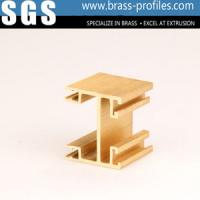 Quality Golden Copper Alloy Extrusion Profiles For Interior Decoration wholesale
