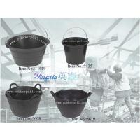 Quality Rubber bucket&pail,recycled tire bucket,construction rubber pail,flexible rubber tub wholesale