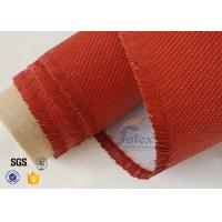 Quality Electrical Insulation Red Silicone Coated Fiberglass Fabric Cloth 530 gsm wholesale