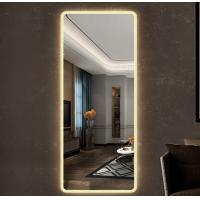 Quality Frameless full-body rounded corner hanging fitting LED mirror with electric lamp decorative wholesale