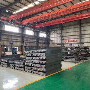 China EN1398 Pull Chain Loading Dock Leveler I Beam Reinforcement Ribs on sale