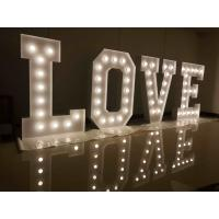 Cheap luxury metal led wedding letter lights giant for Metal letters with lights