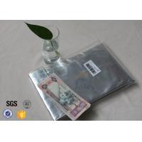 Quality Non Itchy Fiberglass Fabric Fire Resistant Document Pouch / Fireproof Cash Envelope wholesale