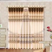 Quality Burnt Out Window Curtain, Various Colors are Available wholesale