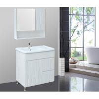 Quality 46 inch bathroom vanity PVC Bathroom Cabinet print design  white  flush color wholesale