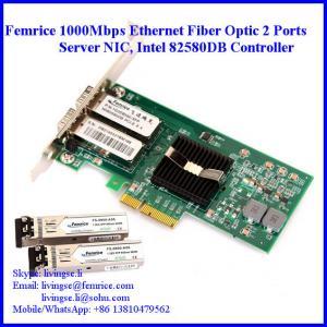 Quality 1 Gbps Dual Port Fiber Optical Gigabit Ethernet Workstation Application Network Adapter 1G2DB580-SFP wholesale