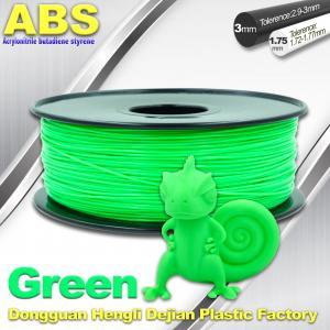 Cheap UP 3d printer ABS Filament 1.75 / 3.0 mm ABS 3d filament 43 color for sale
