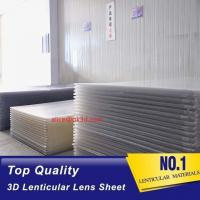 Quality Lenticular Plastic materials 70LPI PET 0.9MM 60X80CM for 3d lenticular printing by injekt print and UV offset print wholesale