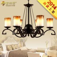 China Matte Bordeaux Candle Glass Blown Modern Chandelier Lighting / Traditional Chandelier Lights on sale