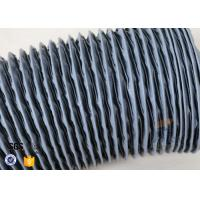 Quality Waterproof  Grey PVC Coated Fiberglass Fabric 0.25mm Air Ducting Cloth wholesale