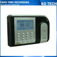 Quality KO-S200 CE Certified TCP/IP Time Attendance System With RFID Reader wholesale