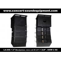 """Quality 480W Compact Double 8"""" Line Array Speaker For Installation , Church , Conference, Nightclub wholesale"""