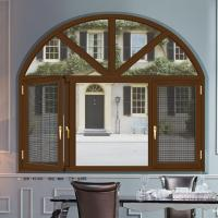 Quality Weatherstripping Arched Double Casement Windows With 5 mm Thickness Tempered Glass wholesale