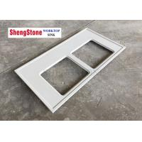 Quality Lab Project Chemical Resistant Countertops Double Sink Hole Light Grey Color wholesale