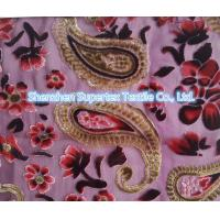 Quality Upper Market Polyester Velvet Stretch Silk Fabric Silk Burn Out Flowers Leopard wholesale