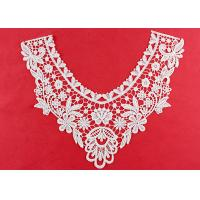 Quality OEM Floral Guipure Lace Collar Applique With Heavy Embroidery By OEKO TEX 100 wholesale