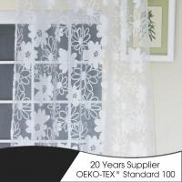 Buy cheap chinese top curtain manufacturer 2018 100 polyester sheer burnout curtain fabric from wholesalers