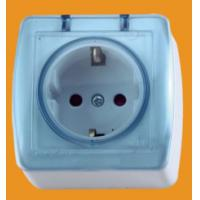 Quality ABS material EU Balck Schuko Socket Outlet with Cover for Spain(S8510) wholesale