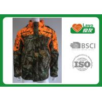 Quality Grey Polyester / Cotton Camo Hoodie Sweatshirt Breathable Thermal For Sports wholesale