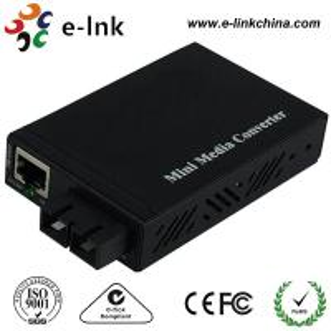 Quality E- Link Single Mode SC Fiber Ethernet Media Converter 10 / 100 / 1000Mbps wholesale