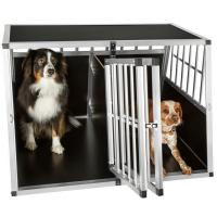 Quality Dog Cage Kennel Large Extra Large Aluminum Metal Pets Kennel Car Transport Crate  ZX104B wholesale
