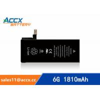Quality ACCX brand new high quality li-polymer internal mobile phone battery for IPhone 6G with high capacity of 1810mAh 3.8V wholesale
