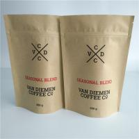 Quality Customized Paper Bag Packaging Vegetable Seeds Ziplock Valve Smell Proof For Coffee / Tea wholesale