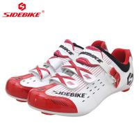 China Anti Skid Lycra Material Road Bike Shoes , Breathable Non Slip Sport Sneakers on sale
